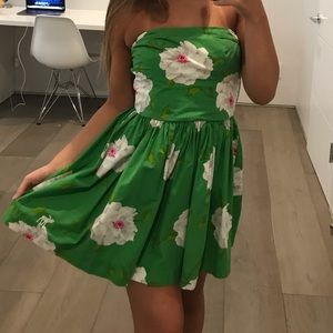 Abercrombie and Fitch Floral Strapless Dress